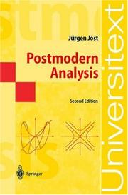Cover of: Postmoderne Analysis