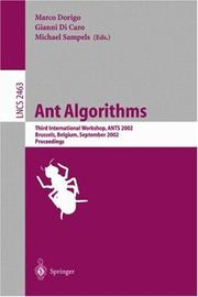 Cover of: Ant algorithms |