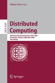 Cover of: Distributed Computing | Shlomi Dolev