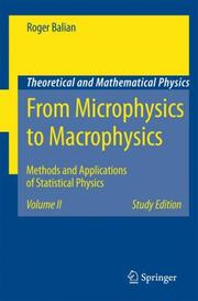 Cover of: From Microphysics to Macrophysics | Roger Balian