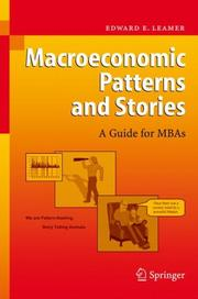 Cover of: Macroeconomic Patterns and Stories | Edward E. Leamer