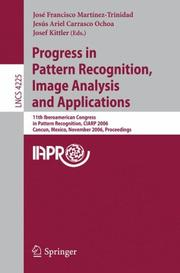 Cover of: Progress in Pattern Recognition, Image Analysis and Applications |
