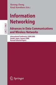 Cover of: Information Networking Advances in Data Communications and Wireless Networks |