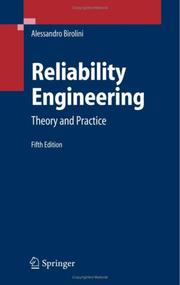 Cover of: Reliability Engineering