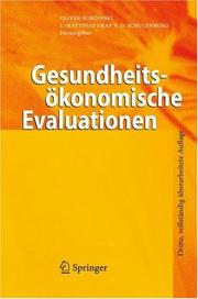 Cover of: Gesundheitso konomische Evaluationen |