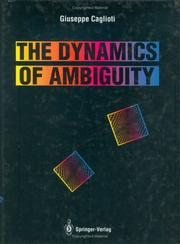 Cover of: The dynamics of ambiguity