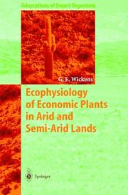 Cover of: Ecophysiology of economic plants in arid and semi-arid lands