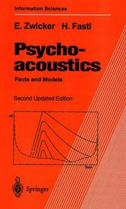 Cover of: Psychoacoustics