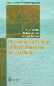 Cover of: Physiological ecology of North American desert plants