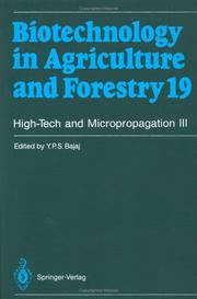 Cover of: High-Tech and Micropropagation III