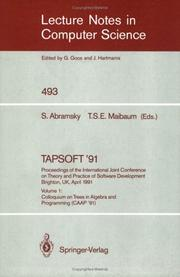 Cover of: TAPSOFT '91