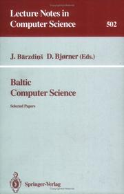 Cover of: Baltic computer science |