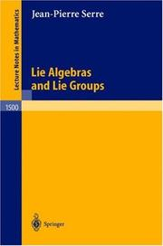Cover of: Lie Algebras and Lie Groups