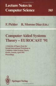 Cover of: Computer aided systems theory, EUROCAST