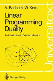 Cover of: Linear programming duality | A. Bachem