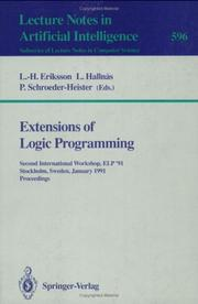 Cover of: Extensions of Logic Programming |