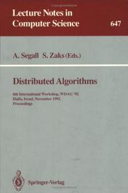 Cover of: Distributed algorithms |