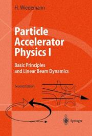 Cover of: Particle accelerator physics | Helmut Wiedemann