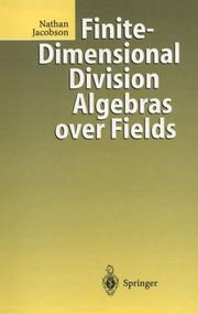 Cover of: Finite-dimensional division algebras over fields
