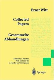 Cover of: Collected Papers - Gesammelte Abhandlungen