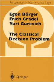 Cover of: The classical decision problem
