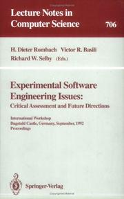 Cover of: Experimental software engineering issues