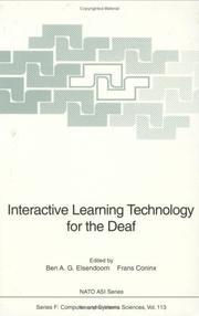 Cover of: Interactive learning technology for the deaf |
