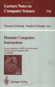 Cover of: Human Computer Interaction |