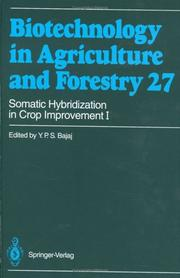 Cover of: Somatic Hybridization in Crop Improvement I