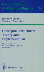 Cover of: Conceptual Structures: Theory and Implementation |