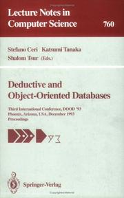 Cover of: Deductive and Object-Oriented Databases |