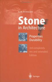 Stone in Architecture by Erhard M. Winkler