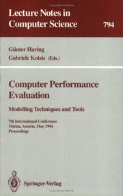Cover of: Computer performance evaluation |