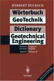 Cover of: Wörterbuch GeoTechnik Dictionary Geotechnical Engineering: Band 2: Deutsch - Englisch/German - English