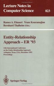 Cover of: Entity-relationship approach, ER