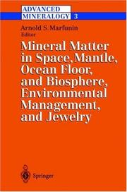 Cover of: Advanced Mineralogy: Volume 3 | Arnold S. Marfunin