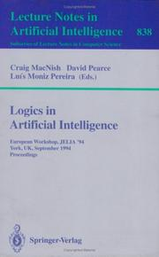 Cover of: Logics in artificial intelligence | European Workshop JELIA