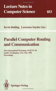 Cover of: Parallel computer routing and communication | PCRCW