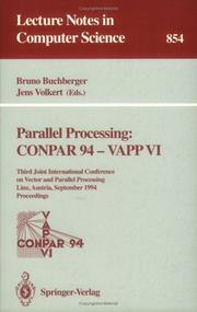 Cover of: Parallel Processing: Conpar 94 - Vapp VI |
