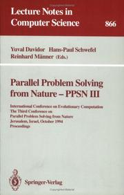 Cover of: Parallel Problem Solving from Nature - PPSN III |