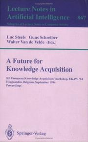 Cover of: A Future for Knowledge Acquisition |