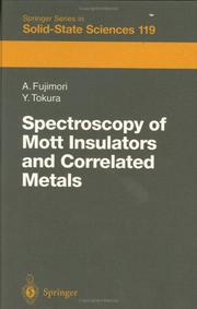 Cover of: Spectroscopy of Mott Insulators and Correlated Metals | Atsushi Fujimori