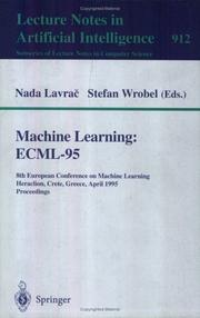 Cover of: Machine learning
