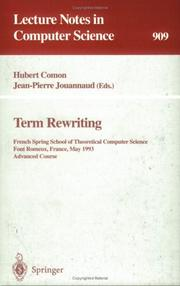 Cover of: Term rewriting