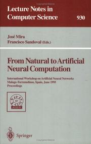 Cover of: From Natural to Artificial Neural Computation |
