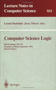 Cover of: Computer science logic