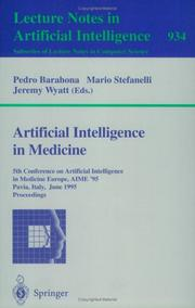 Cover of: Artificial intelligence in medicine
