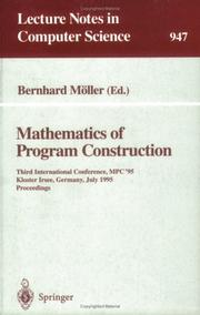 Cover of: Mathematics of program construction