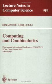 Cover of: Computing and combinatorics