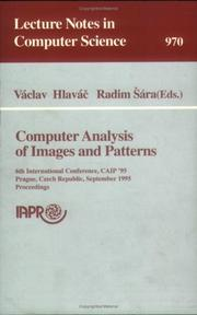 Cover of: Computer analysis of images and patterns